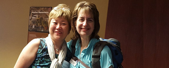 Spotlight members, Valerie Ensor and Emiko in commemoration of National Hiking Day