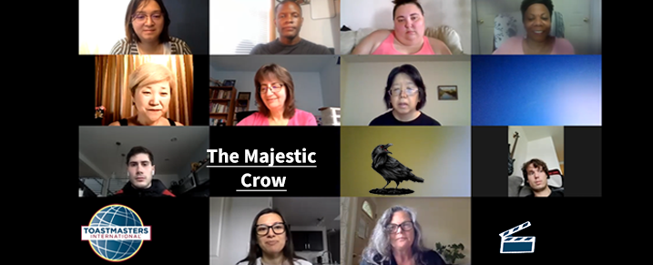 Spotlight toastmasters highlights from August 1, 2020 meeting feauturing the Majestic Crow